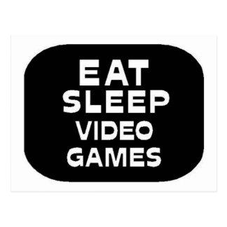 Eat Sleep Video Games Postcard