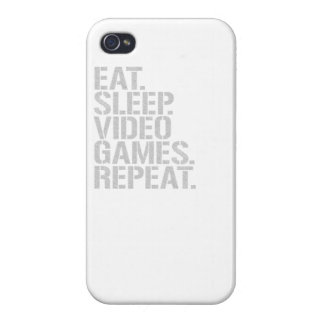 Eat Sleep Video Games Repeat iPhone 4 Case