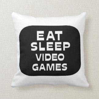 Eat Sleep Video Games Throw Pillow