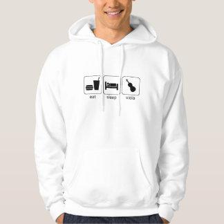 eat sleep viola hoodie