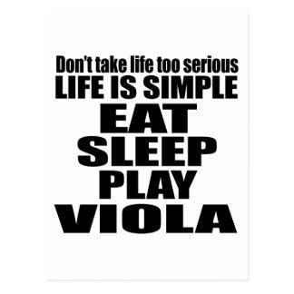 EAT SLEEP VIOLA POSTCARD