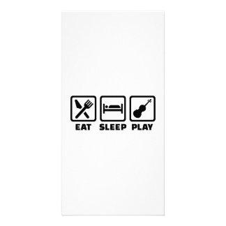 Eat Sleep Violin Fiddle Photo Card Template