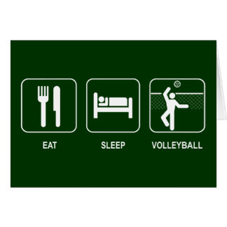 Eat Sleep Volleyball Card