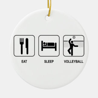 Eat Sleep Volleyball Ornament