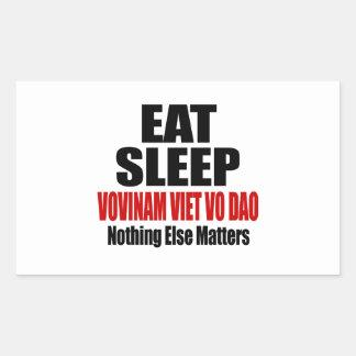 EAT SLEEP VOVINAM VIET VO DAO RECTANGULAR STICKER