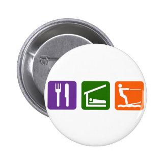 Eat Sleep Water Skiing 6 Cm Round Badge