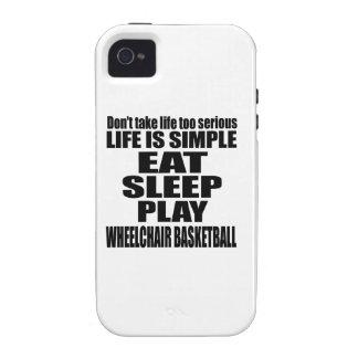 EAT SLEEP WHEELCHAIR BASKETBALL iPhone 4 CASE