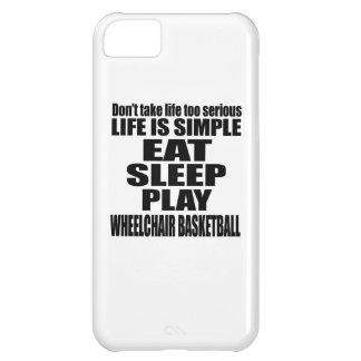 EAT SLEEP WHEELCHAIR BASKETBALL iPhone 5C CASE