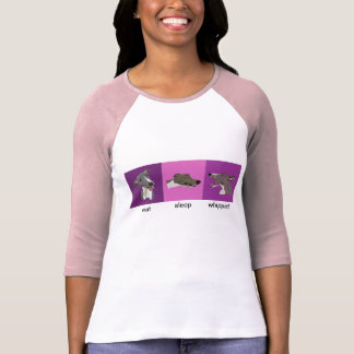 Eat Sleep Whippet Ladies Raglan T-Shirt