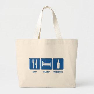 Eat Sleep Whiskey Jumbo Tote Bag