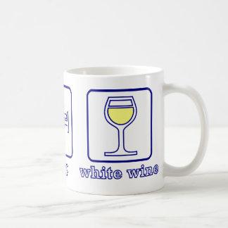 Eat...Sleep...White Wine Basic White Mug