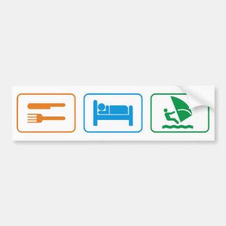 eat sleep windsurf bumper sticker
