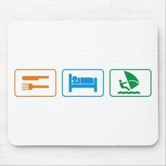 eat sleep windsurf mousepads