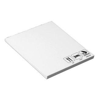 Eat Sleep Windsurf Notepad