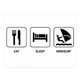 Eat Sleep Windsurf Postcard