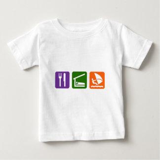 Eat Sleep Windsurfing Baby T-Shirt