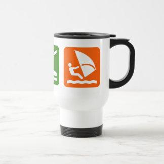 Eat Sleep Windsurfing Stainless Steel Travel Mug