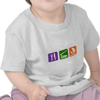 Eat Sleep Windsurfing Tee Shirts