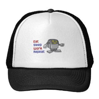 EAT SLEEP WORK REPEAT MESH HATS