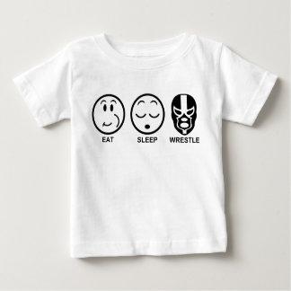 Eat Sleep Wrestle Baby T-Shirt