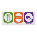 Eat Sleep Wrestle Print