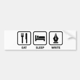 Eat Sleep Write Bumper Sticker