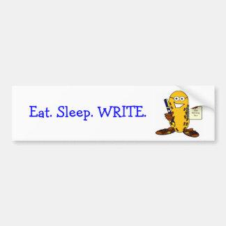 Eat. Sleep. WRITE. bumper sticker