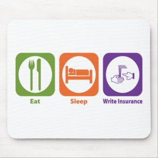 Eat Sleep Write Insurance Mouse Mat