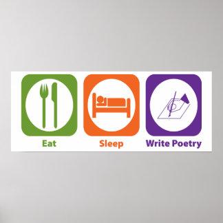 Eat Sleep Write Poetry Poster