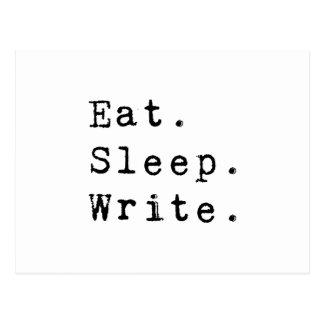 Eat Sleep Write Post Cards
