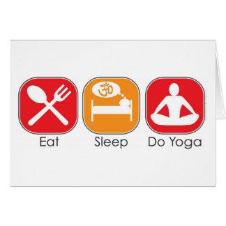 Eat Sleep Yoga Greeting Cards