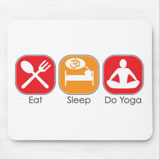 Eat Sleep Yoga Mouse Mat