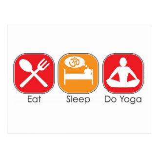 Eat Sleep Yoga Postcard