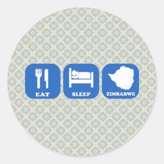 Eat Sleep Zimbabwe Classic Round Sticker
