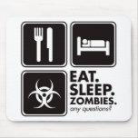 Eat Sleep Zombies - Black