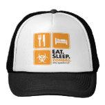 Eat Sleep Zombies - Orange Mesh Hats