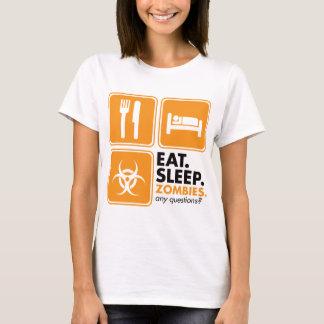 Eat Sleep Zombies - Orange T-Shirt