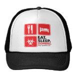 Eat Sleep Zombies - Red Mesh Hats