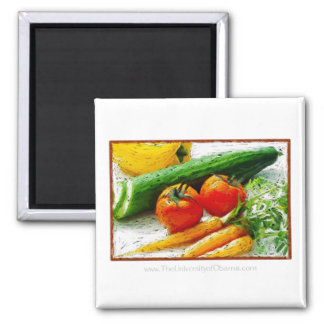 Eat Smart | Eat healthy | I love Veggies Square Magnet