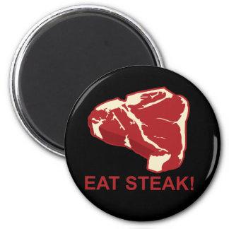 Eat STeak 6 Cm Round Magnet