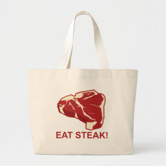 Eat STeak Large Tote Bag