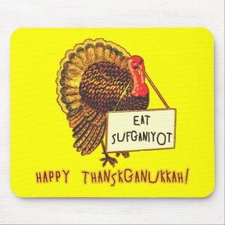 Eat Sufganiyot Funny Thanksgiving Hanukkah Tee Mouse Pad