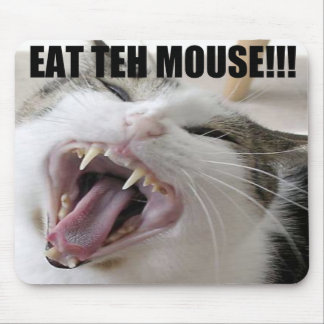 EAT TEH MOUSE! MOUSE PAD