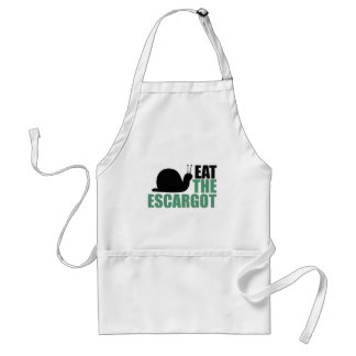Eat the Escargot Land Snail Delicacy Standard Apron