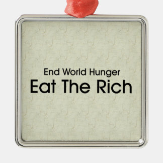 Eat The Rich Christmas Ornaments