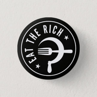 Eat the Rich Hammer & Sickle 3 Cm Round Badge