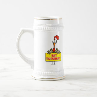 Eat Tofurkey Thanksgiving Gift Beer Stein
