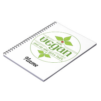 Eat Vegan and No One Gets Hurt Notebook
