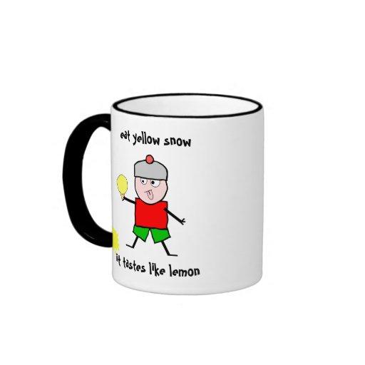 Eat yellow snow coffee mug