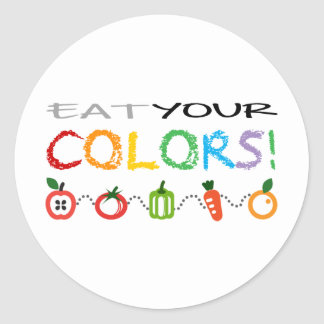 Eat Your Colors! Round Sticker